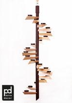 """Lichtspirale Helix Modell """"Berghof"""" Natur Hell"""