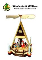 Hauspyramide mit Weihnachtsmann