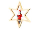 Fensterstern Weihnachtsmann
