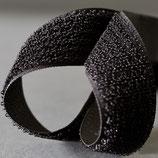 Flauschband 20mm Schwarz