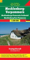Straßenkarte Mecklenburg-Vorpommern 1:200.000