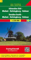 Straßenkarte 1:250.000Schweden Süd, Malmö – Helsingborg – Kalmar