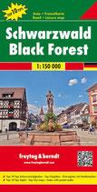 Straßenkarte Schwarzwald 1:150.000