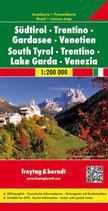 Straßenkarte 1:200.000 Südtirol–Trentino–Gardasee–Venetien