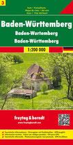 Straßenkarte 1:200.000 Baden-Württemberg