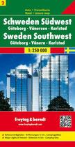 Straßenkarte 1:250.000 Schweden Südwest, Göteborg – Vänersee – Karlstad