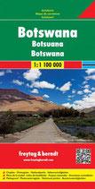 Straßenkarte Botswana, Autokarte 1:1,1 Mio.
