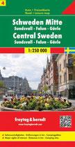 Straßenkarte 1:250.000 Schweden Mitte, Sundsvall – Falun – Gävle