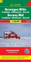 Straßenkarte 1:250.000 Norwegen Mitte, Trondheim – Lillehammer – Alesund