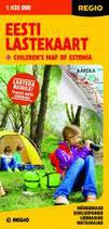"""Straßen-/Erlebniskarte """"Attraktionen für Kinder in Estland"""""""