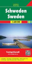 Straßenkarte 1:600.000Schweden