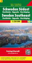 Straßenkarte 1:250.000 Schweden Südost Stockholm – Uppsala – Norrköping