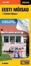 Straßen-/Erlebniskarte Herrenhäuser in Estland