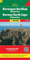 Straßenkarte 1:400.000 Norwegen Nordkap – Hammerfest