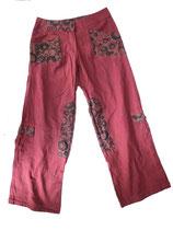 Pantalon Ethnique bordeaux