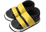 Krabbelschuh/Sandale  - schwarz/gelb