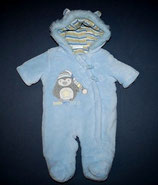 Baby Blue Fleeceoverall Gr. 56
