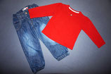 Name It Jeanshose + GeorgeShirt  Gr. 92-98