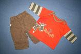Marks&Spencer Shirt + Cherokee Feinkordhose Gr. 56-62