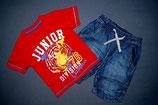 St. Bernard Dunnes Shirt + H&M Jeanshose/Shorthose Gr. 92-98