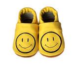 Krabbelschuh - gelb mit Smiley