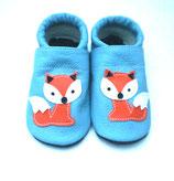 Krabbelschuh - babyblau Fuchs