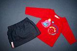 """M&Co Shirt + """"Katblomma"""" Rock Gr. 62-68"""