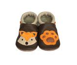 Krabbelschuh - beige-braun- orange  Fuchs 3D