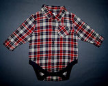 Next Flanell Hemd-Body Gr. 62-68