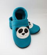 Krabbelschuh - türkis mit Panda
