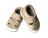 Krabbelschuh - Sandale beige