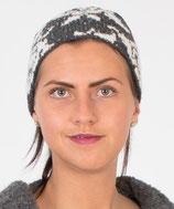Stirnband grau - weiß / Headband gray - white