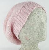 Basken-Mütze,  Alpakawolle 100%,  pastel rosa