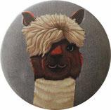 Alpaka-Pin Button exklusives Design von GOUVEIARTS / Alpaka-Pin Button exclusive designed by GOUVEIARTS