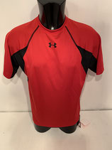 Under Armour Heat Gear Tee - Red / Black Panels