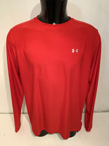 Under Armour Long Sleeve Training Top - Red / Silver