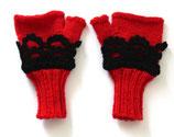 Handschuhe ohne Finger, Häkelspitze