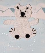 Häkelapplikationen Eisbär