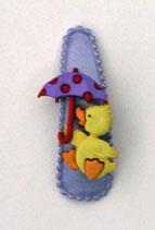 Haarspange Ente, 5,5 cm