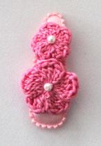 Haarspange mit 2 Blumen,  5,5 cm