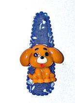 Haarspange Hund, 5,5 cm