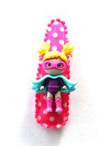 Haarspange Super Mädchen, 5,5 cm