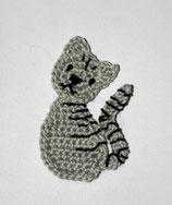 Häkelapplikation Katze