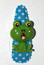 Haarspange Frosch