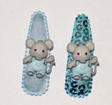 Haarspange Tierkinder Maus, 5,5 cm