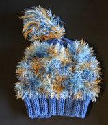 Mütze blau/braun