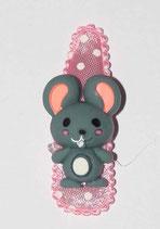 Haarspange Maus, 5,5 cm