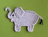 Häkelapplikation Elefant