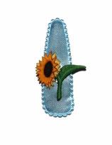 Haarspange Blume mit Perle