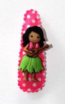 Haarspange Hawai Mädchen, 5,5 cm